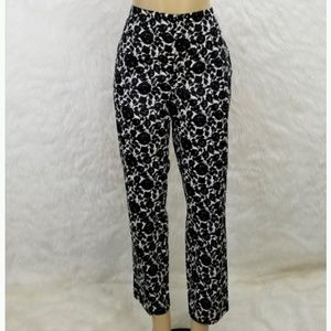 Talbots Floral Ankle Pants Pin Up Inspired 12